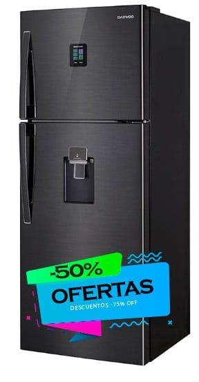 oferta refrigerador daewoo negro
