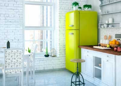 refrigerador vintage en cocina