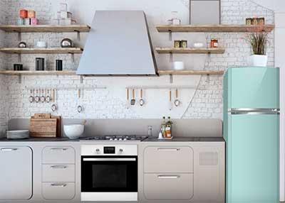 refrigerador estilo retro