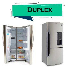 refrigeradores duplex o dos puertas