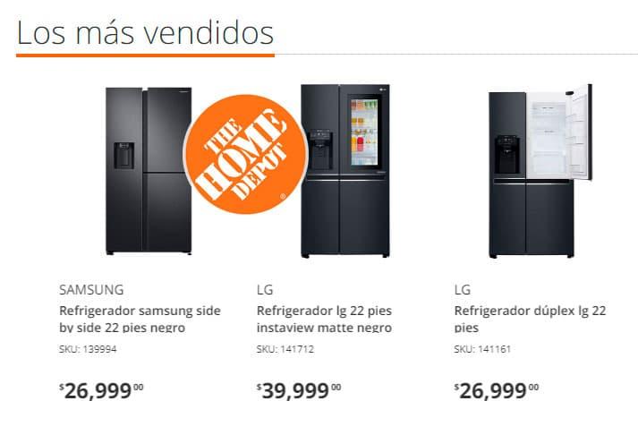 precios de refrigeradores en home depot