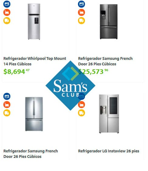precios de refrigeradores en sams club