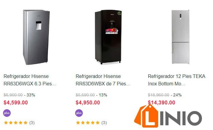 precios de refrigeradores linea blanca linio