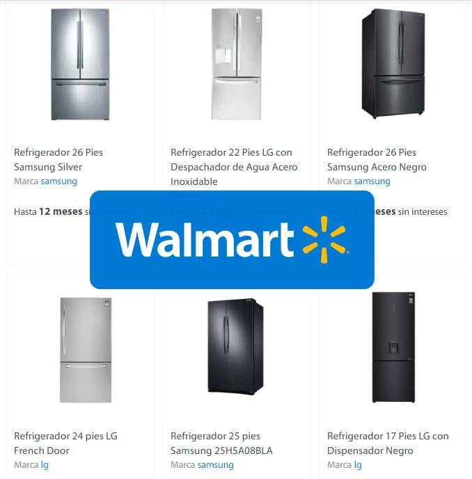 refrigeradores baratos en Walmart