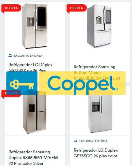 refrigeradores en coppel precios