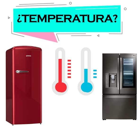 temperatura de un refrigerador de casa