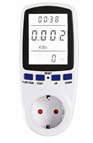 medidor de potencia y consumo electrico refrigerador