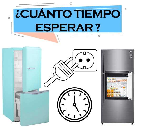esperar para conectar el refrigerador