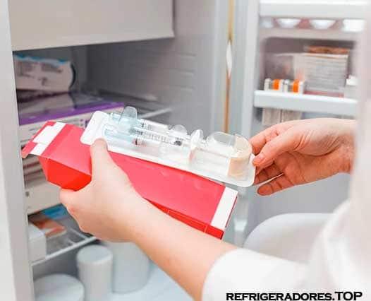 temperatura del refrigerador de vacunas