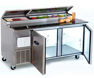 refrigerador horizontal restaurante
