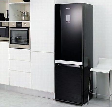 refrigerador negro espejo