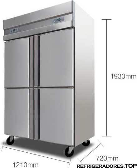 refrigerador para restaurante medidas