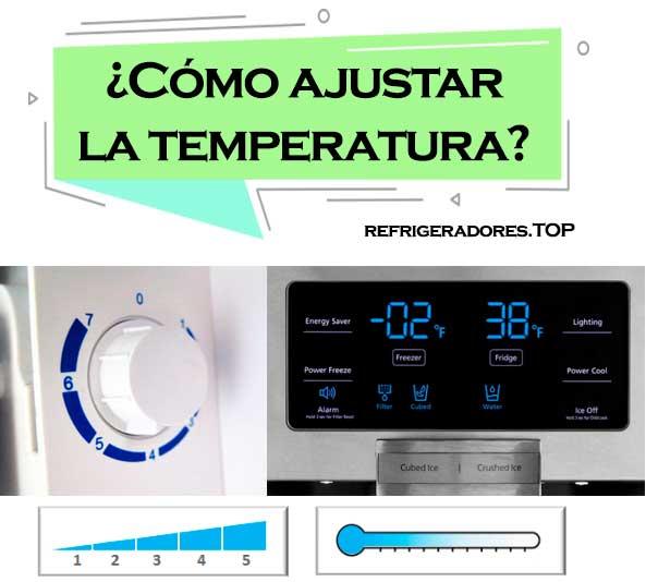 Cómo ajustar la temperatura del refrigerador